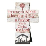 For Unto You Is Born This Day, A Savior, Cross, Large