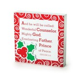 Holly & Berries, Prince of Peace Plaque
