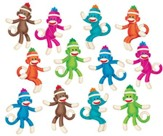 Sock Monkeys (Solids) Mini Accents Variety Pack (36 Pieces)