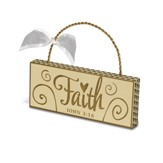 Faith Plaque Ornament