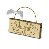 Joyful Plaque Ornament