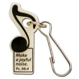 Make a Joyful Noise--Glow-in-the-Dark Zipper Pull