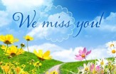 We Miss You! Spring Pathway Postcards, 25
