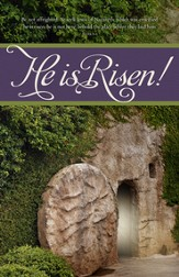 Easter - He is Risen (Mark 16:6, KJV) Bulletins, 100