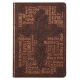 Names of Jesus Journal, Lux Leather, Brown