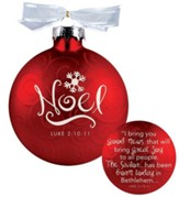 Noel, Swirls Ornament