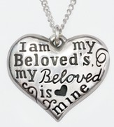 I Am My Beloved's Heart Necklace