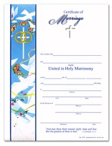 United in Holy Matrimony Certificate of Marriage (1 Corinthians 13:13) Pack of 25