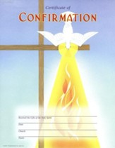 Descending Dove Certificate of Confirmation, Pack of 25