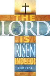 The Lord Is Risen (Luke 24:24) Cross Bookmark, Pack of 25