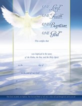 One Lord (Ephesians 4:5-6) Baptism Certificates, 6