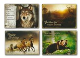 Wild Animals (KJV) Box of 12 Assorted Birthday Cards