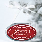 Joyful Oval Christmas Plaque Ornament