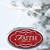 Faith Oval Christmas Plaque Ornament