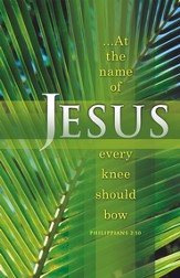 At the Name of Jesus, Every Knee Should Bow (Philippians 2:10) Bulletins, 100