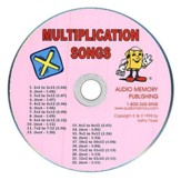 Audio Memory Multiplication Songs CD Only