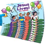 Jesus Lives! Let's Celebrate! 3D Bookmark, Pack of 10