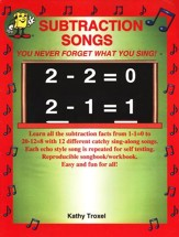 Audio Memory Subtraction Songs Book Only