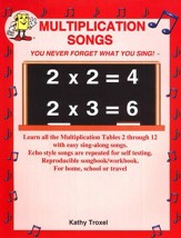 Audio Memory Multiplication Songs  Book Only