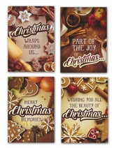 Sugar & Spice, Box of 12 Assorted Christmas Cards (KJV)