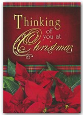 Thinking of You at Christmas , Box of 12 Christmas Cards (KJV)