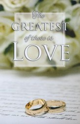 Gold Rings The Greatest of These is Love Bulletin, 100