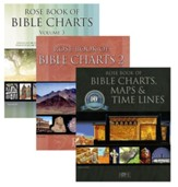 Rose Book of Bible Maps, Charts, &  Time Lines Set - Volumes 1-3