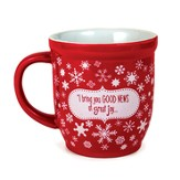 Good News Snowflake Red Ceramic Mug