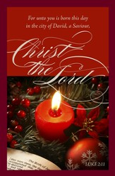 For Unto You (Luke 2:11, KJV) Christmas Bulletins, 100