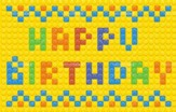 Happy Birthday Blocks Postcards, 25