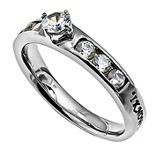 I Know Princess Solitaire Women's Ring, Size 9 (Jeremiah 29:11)