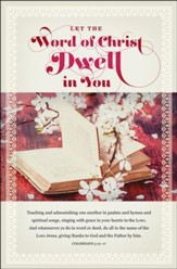 Let The Word Of Christ Dwell In You (Colossians 3:12-17, KJV) Wedding Bulletins, 100