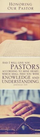Honoring Our Pastor (Jeremiah 3:15, KJV) Bookmarks, 25