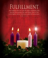 Fulfillment (Luke 2:13) Large Advent Bulletins, 100
