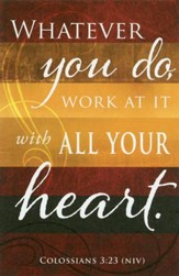 Whatever You Do (Colossians 3:23, NIV) Bulletins, 100