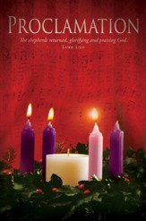 Proclamation (Luke 2:20) Advent Bulletins, 100