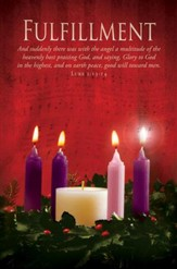 Fulfillment (Luke 2:13) Advent Bulletins, 100