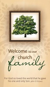 Welcome to Our Church Family (John 3:16, NIV) Pew Cards, 50