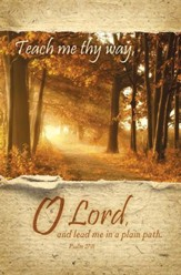 Teach Me Thy Way (Psalm 27:11) Bulletins, 100