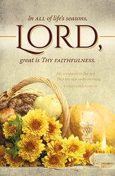 Great Is Thy Faithfulness (Lamentations 3:22-23) Bulletins, 100