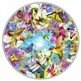 Hummingbirds, 500 Piece Round Jigsaw Puzzle