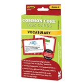 Common Core Vocabulary Cards, Kindergarten