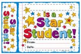 Star Student Doodles Bookmark Award (Pack of 30)