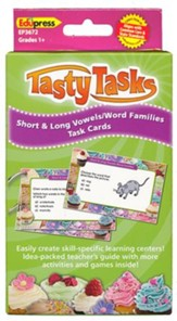 Short and Long Vowels/Word Families Cards
