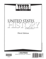 BJU Heritage Studies 11: United States History, Tests  (Third Edition)