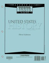 BJU Heritage Studies 11: United States History, Tests Answer Key  (Third Edition)