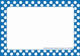 Name Tags - Blue Polka Dots, Pack of 31