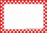 Name Tags - Red Polka Dots, Pack of 31