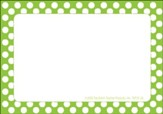Name Tags - Green Polka Dots, Pack of 31