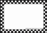Name Tags - Black Polka Dots, Pack of 31